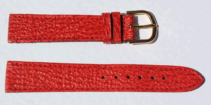 Bracelet montre homme cuir rouge