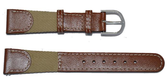 bracelet-montre-cuir-tissu-marron-18-bracelet montre cuir et tissu  :: + infos - Devis