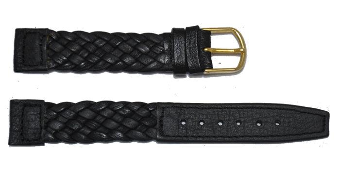 bracelet-montre-tresse-noir-16-Bracelet montre cuir tressé  :: + infos - Devis